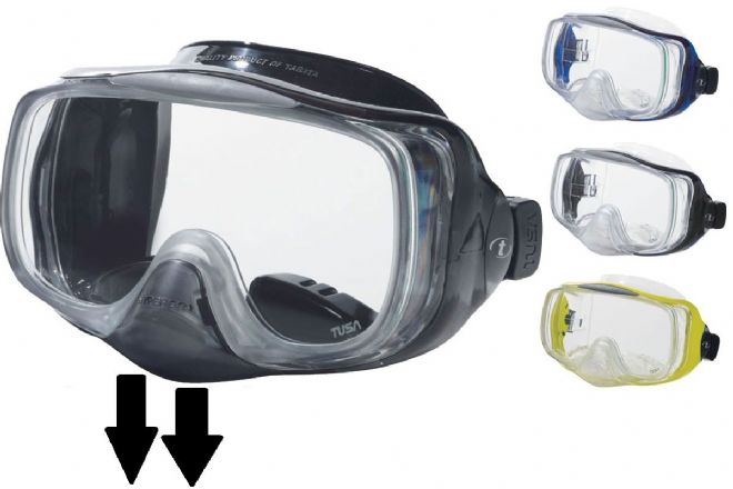 Tusa - M-32 Imprex 3D Hyperdry Dive Mask - Purge Valve - Side Windows - Scuba